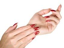 manicured ногти Стоковое Фото