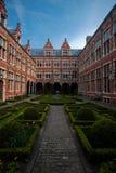 Manicured European Garden Courtyard Antwerp Stock Photos