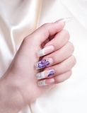 Manicured female hand Royalty Free Stock Photography