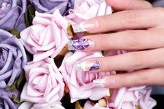 Manicured female hand Stock Photography