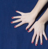 Manicured Fingers Royalty Free Stock Images