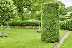 Manicured garden at Manor d'Eyrignac royalty free stock images