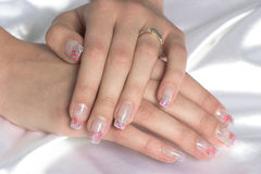 manicured händer Fotografering för Bildbyråer