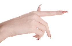 Manicured hand Royalty Free Stock Photo