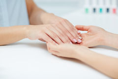 Manicured hands Stock Photography