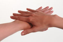 Manicured hands Royalty Free Stock Photos