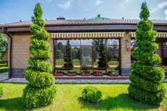 Manicured House and Garden. Royalty Free Stock Photo