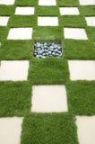 manicured lawn Arkivbild