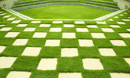 Manicured lawn Stock Photo