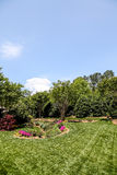Manicured Lawn Around Formal Garden Royalty Free Stock Images