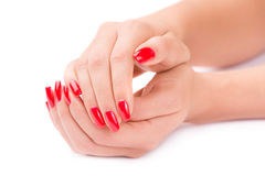 Manicured nails Stock Images