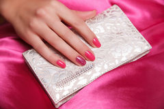 Manicured and painted fashion nails Royalty Free Stock Photos