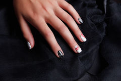 Manicured and painted nails Royalty Free Stock Photos