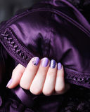 Manicured and painted nails. Portrait of manicured and painted nails Royalty Free Stock Photos