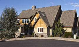 Manicured residential house Clackamas Oregon. Manicured residential family house in Clackamas Oregon Stock Photography