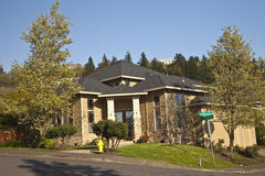 Manicured residential house Clackamas Oregon. Royalty Free Stock Images