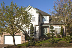 Manicured residential house Clackamas Oregon. Stock Photos
