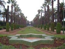 Manicured trädgård i Marocko Arkivbilder