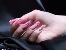 Manicured vrouwelijke hand Stock Foto's