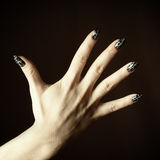 Manicured woman hand Royalty Free Stock Photos