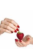 manicureredjordgubbe fotografering för bildbyråer