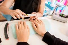 manicures foto de archivo libre de regalías