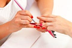 At manicurist Stock Image