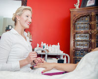 Manicurist at Work Stock Photos
