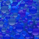 Manie bleue de bulle Photo stock