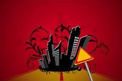 Manier aan donkere stad, vector Stock Foto