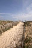 Manier aan het strand Stock Foto's