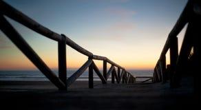 Manier aan het strand Stock Fotografie