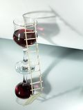 Manier aan wijn Stock Afbeeldingen