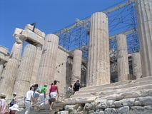 Manier in akropolis stock foto's