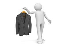 Manier - Couturier en nieuw jasje Stock Fotografie