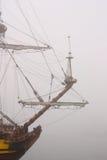 Manier door de mist. Royalty-vrije Stock Fotografie