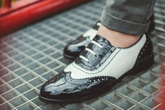 Manier elegante schoenen Stock Foto