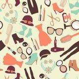 Manier en het naadloze patroon van klerentoebehoren Royalty-vrije Stock Afbeelding