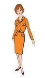 Manier geklede vrouw (de stijl van jaren '50jaren '60) Stock Afbeeldingen