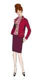 Manier geklede vrouw (de stijl van jaren '50jaren '60) Royalty-vrije Stock Foto's