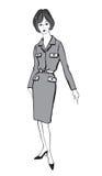 Manier geklede vrouw (de stijl van jaren '50jaren '60) Royalty-vrije Stock Foto