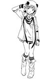 Manier Japans meisje met armband vector illustratie