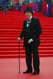 Manier meer modellier Vyacheslav Zaitsev bij de Filmfestival van Moskou Stock Foto's