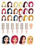 Manier vrouwelijke avatars. royalty-vrije illustratie