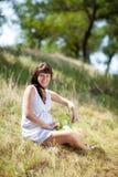 Manier zwanger meisje royalty-vrije stock fotografie