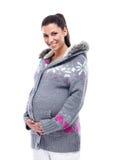 Manier zwangere vrouw Stock Afbeelding