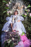 Manierbeeld van sensueel meisje in heldere fantasiestylization Royalty-vrije Stock Fotografie