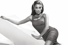 Manierfoto van prachtige sensuele vrouw Royalty-vrije Stock Fotografie