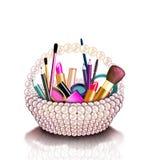Manierillustratie van geplaatste schoonheidsmiddelen Royalty-vrije Illustratie