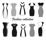 Manierinzameling van vrouwen` s kleding Stock Afbeelding